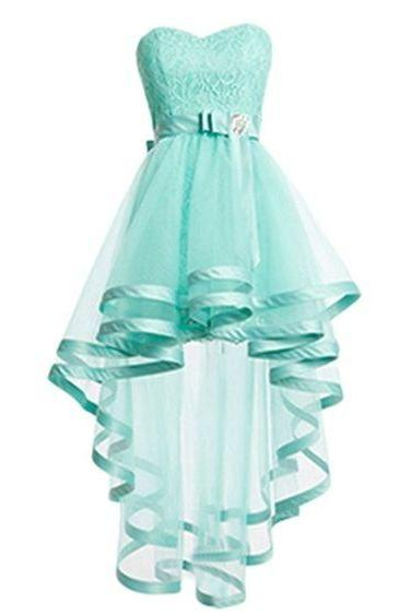 Sweet Sixteen Dresses Dresses Mint Sashes Hi-Lo Sweetheart Neckline A-Line/Column Zipper-Up Sleeveless